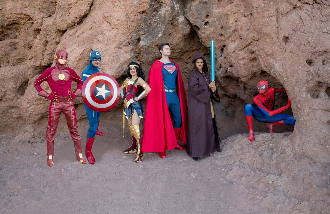 Superhero Party Experiences Fair Maidens and Masks Phoenix